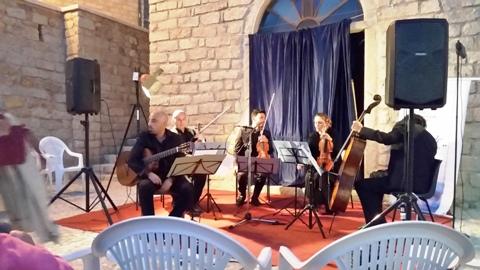Alessandro Deiana e il quartetto di archi Ellipsis - foto galluranews