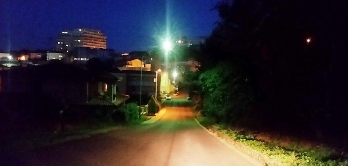 Viale Giovanni XXIII, nella parte bassa della strada panoramica.