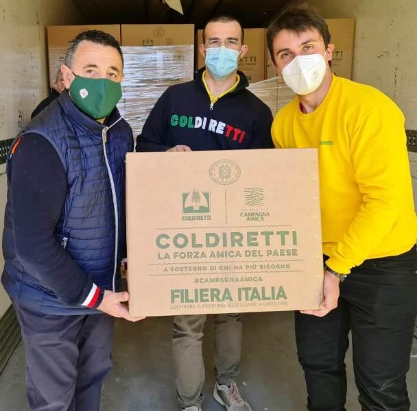 pacchi solidali Coldiretti